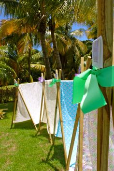 Tents for each girl at a Camping Party #campingparty #tents