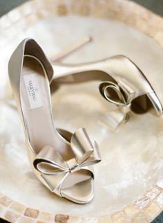Metallic Valentino heels: http://www.stylemepretty.com/little-black-book-blog/2015/07/30/traditional-tampa-garden-inspired-wedding/   Photography: Justin DeMutiis - http://justindemutiisphotography.com/