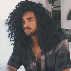 Black Men Haircuts 40 Stylish Trendy Long Hairstyles For Long Curly Hairstyles . Black Men Haircuts 40 Stylish Trendy Long Hairstyles For Long Curly Hairstyles And Haircuts Guide F Curly Hair Styles, Natural Hair Styles, Long Curly Hair Men, Long Hair Man, Men With Long Hair, Curly Afro, Big Hair, Straight Hair, Black Men Haircuts