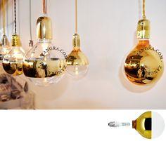 halogen light bulb 'mirror ring' gold