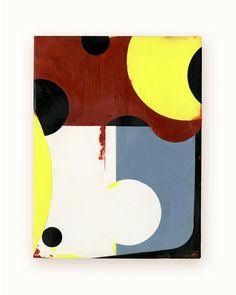 24 / Blazon Series, variation 03 / 2014 / encaustic & alkyd on wood panel  / 8 x 6 inches