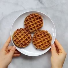 Sweet potato waffles made with two ingredients and ready in just five minutes! These sweet potato waffles are better than Eggos and can be made ahead and frozen for quick meal prep. Best paleo waffles for healthy eaters. Easy gluten free waffles for everyone! #paleo #waffles #baking