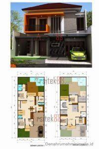 Desain Rumah Minimalis 2 Lantai beserta denahnya 1 & denah dan tampak rumah minimalis sudut tipe 60 di lahan 10x15 m jasa ...