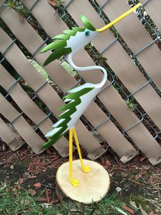 """Personalized small Spiked Egret (about 12"""" tall)"""