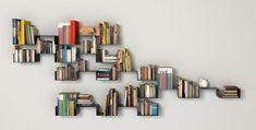 Modern wall shelf ideas modern bookshelf ideas adorable tasteful custom built modern wall shelves for book Cheap Bookshelves, Cool Shelves, Wall Mounted Bookshelves, Creative Bookshelves, Modern Bookshelf, Bookshelf Plans, Bookshelf Design, Bookshelf Ideas, Bookshelf Decorating