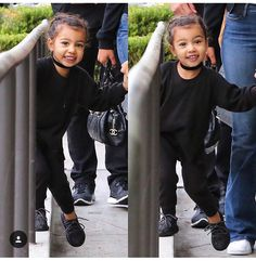 She looks so much like me as a child that I figured I might have a daughter that looks like that so why not pin it into my future children board Little Kid Fashion, Cute Kids Fashion, Kim Kardashian And Kanye, Kardashian Jenner, Kid Swag, Cute Celebrities, Celebs, Celebrity Kids, Future Daughter