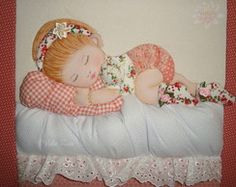Caixa bebê em patchwork 3d