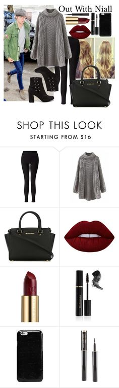 """""""out with niall"""" by dandelion222 ❤ liked on Polyvore featuring Payne, Miss Selfridge, MICHAEL Michael Kors, Lime Crime, Urban Decay, Elizabeth Arden, Maison Margiela and Lancôme"""