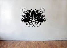 Lotus Flower Vinyl Wall Decal Living Room by AdnilCreations, £7.99