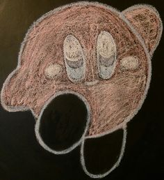 Kirby chalk art