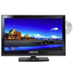 Axess 15.4 LED AC/DC TV with DVD Player Full HD with HDMI, SD card reader and USB