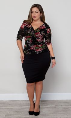 Pair our plus size Key Note Shrug with a cami and pencil skirt for ...
