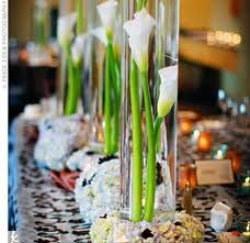 Tiered Calla Lily Centerpieces
