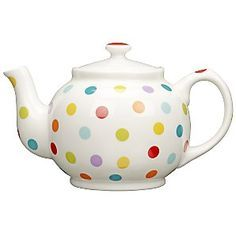 John Lewis Spot Teapot- this reminds me of the spotted elephant from the land of the misfit toys. Cute Teapot, Teapots And Cups, Teacups, Teapots Unique, Tea Cozy, My Cup Of Tea, Chocolate Pots, High Tea, Tea Time