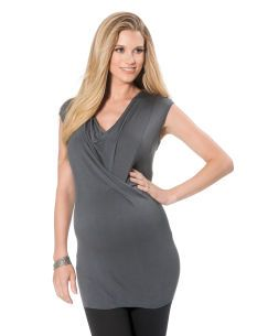 #DestinationMaternity Jessica Simpson Sleeveless Drape Neck Drape Maternity T Shirt #EastwoodPinPals