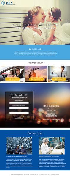 Sitio web Plan Básico para OLS SEGUROS - Landing page para servicios de seguros
