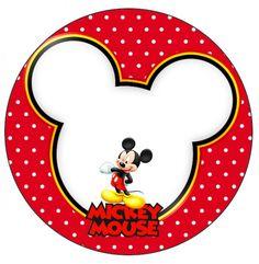Rótulo Tubetes,Toppers e Latinhas Mickey: