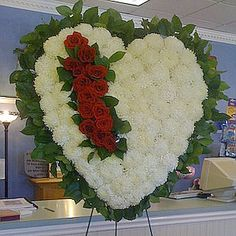 Funeral Flower Hearts