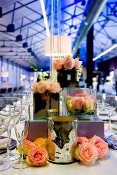 Flower / Table Decor by Stefan Norval Turbine Hall, Flower Decorations, Table Decorations, Table Flowers, Urban Chic, Centerpieces, Centerpiece Ideas, Rehearsal Dinners, Wedding Venues