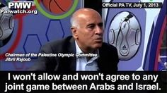 Terror promotion by Jibril Rajoub, Chairman of the Palestine Olympic Com...
