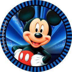 Etiqueta redonda Mickey Mouse