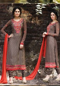 semi stitched brown brasso straight cut suit