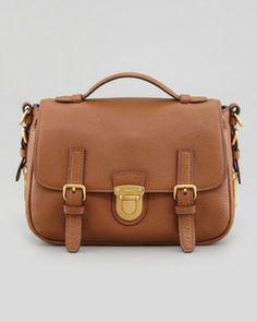 Prada Daino Flap-Lock Messenger Bag, Brown on shopstyle.com