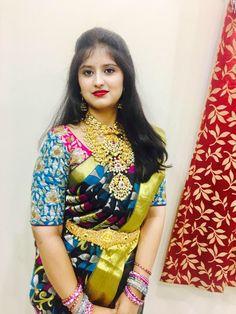 Aish induri in black kanchipuram saree with heavy polki mango mala and necklace and heavy polki vadiyanam Beautiful Girl Image, Beautiful Gorgeous, Bridal Blouse Designs, Most Beautiful Indian Actress, Bridal Outfits, Saree Wedding, Indian Girls, Indian Bridal, Indian Dresses