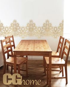 Items similar to Gold Lace Wall Decals Vintage Pattern Nursery Wall Decor Baby Room Deals Tulle Wall Sticker Kitchen Decor Dining Room Wall Art Self Adhesive on Etsy