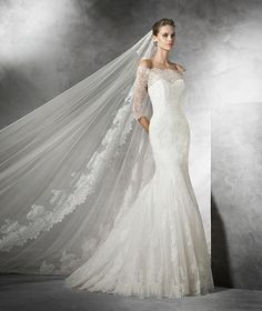 Schaffer's in Scottsdale, Arizona carries Pronovias - STYLE PRUSIA carries Pronovias - STYLE PRUSIA. Pronovias Wedding Dresses, Tulle mermaid wedding dress with lace, guipure and gemstone embroidery appliques. Bodice with sweetheart neckline and straps de Pronovias Wedding Dress, Lace Wedding Dress, 2016 Wedding Dresses, Wedding Dress Sizes, Cheap Wedding Dress, Bridal Dresses, Wedding Gowns, Dresses 2016, Lace Dress