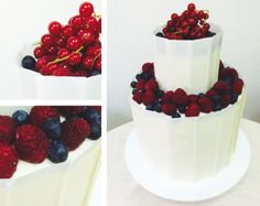 Inspiration mariage - Chocolat blanc, fruits des bois #white #chocolate #simple #fruit #wedding Fruit Wedding, White Chocolate, Panna Cotta, Raspberry, Simple, Cake, Ethnic Recipes, Inspiration, Food