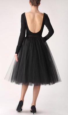 257971e878 Fashion Simple Women Skirts 5 Layers Black Tutu Slirt Tea Length Tutu Skirt  For Wedding Bridesmaid