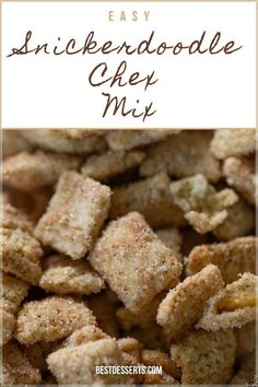 Your next favorite snack is right here! This Snickerdoodle Chex Mix recipe is so easy to make and incredibly addicting. You'll be making batch after batch its that easy and that good!