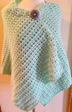 Misty Crochet Lacy Wrap Pattern with brooch Prayer Shawl Crochet Pattern, Prayer Shawl Patterns, Crochet Prayer Shawls, Crochet Wrap Pattern, Crochet Shawls And Wraps, Easy Crochet Patterns, Crochet Scarves, Crochet Clothes, Free Crochet