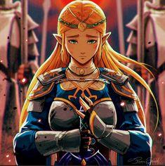 """Zelda: Last Stand - fan art piece. The Legend Of Zelda, Legend Of Zelda Breath, Botw Zelda, Character Art, Character Design, Last Stand, Link Zelda, Metroid, Twilight Princess"