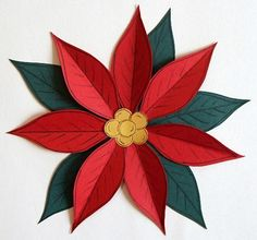 Simple and Free Winter Paper Piecing Patterns : Free Christmas Poinsettia Paper Piecing Patterns