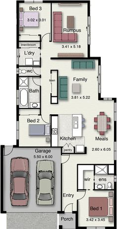 Barton 191 Floor Plan  Suits a narrow block of land!