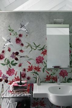 Full sized wall coverings that hangs like wallpaper.