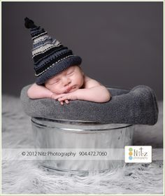 Baby Hats, Newborn Hats, Baby Boy Hats, Baby Girl Hats, Newborn Baby Hat, Knit Newborn Hat, Stripe Baby Hat, Newborn Photography Prop. $26.00, via Etsy.