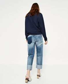 Image 3 of BOYFIT SELVEDGE JEANS from Zara