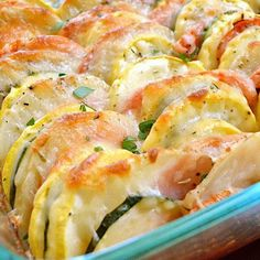 Vegetable Tian  Ingredients 1	Tbsp olive oil 1	medium yellow onion 1	tsp minced garlic 1	medium zucchini 1	medium yellow squash 1	medium potato 1	medium tomato 1	tsp dried thyme to taste salt & pepper 1	cup shredded Italian cheese