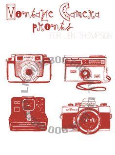 Fundraiser for Jen Thompson (amistillagirl.com)  - Vintage Camera Prints via lilblueboo.com