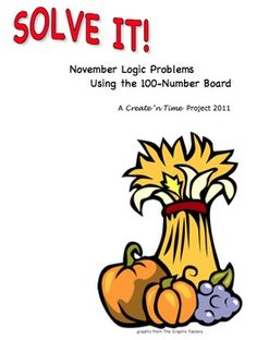 SOLVE IT! November Math Logic Problems Using the 100-numbe