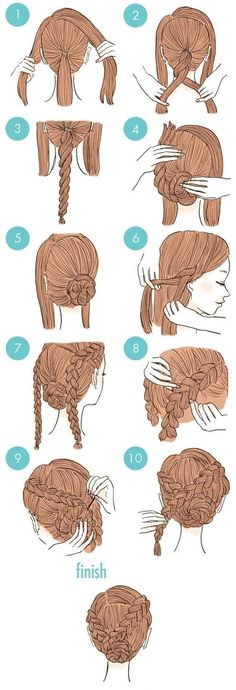 hair hair updos 65 Easy And Cute Hairstyles Th Cute Quick Hairstyles, Simple Wedding Hairstyles, Up Hairstyles, Hairstyle Ideas, Hairstyle Tutorials, African Hairstyles, Amazing Hairstyles, Simple Braided Hairstyles, Wedding Hairdos