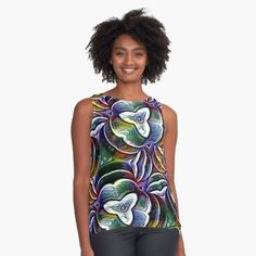 Chiffon Tops, Abstract Art, Digital Art, Bloom, Art Prints, Printed, Awesome, Fabric, Accessories
