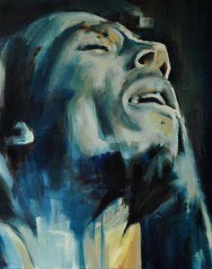 """Saatchi Online Artist: Jos van der Vleuten; Oil, Painting """"Bob Marley"""""""