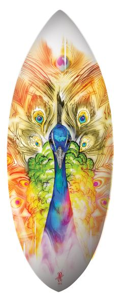 Peacock Skimboard .Design by Richard de Ruijter,