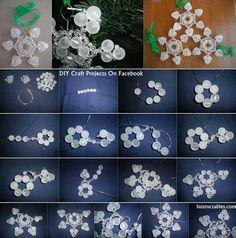 Wire snowflake ornament