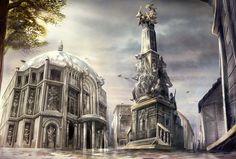 Statue Plaza and City Hall by yanimator on DeviantArt