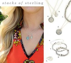 Look of the month Stacks of Sterling. Visit my website to order at initialoutfitters.net/abbycarter or contact me at abby.carter@hotmail.com